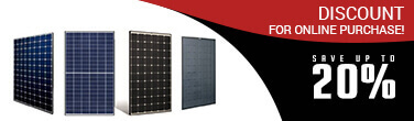 20% discount on solar panel