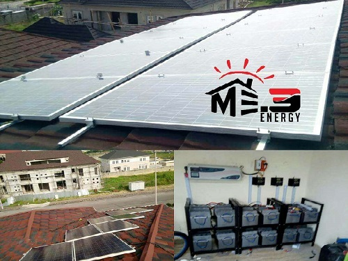 solar system installation with batteries